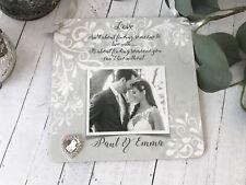 Personalised Photo Wedding Anniversary Love Keepsake Plaque/Heart Gift P610