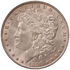 1890 Morgan Silver Dollar. B.U. Condition. Full Breast Feathers. 0113