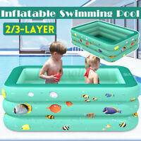 Kids Large Inflatable Swimming Pool Family Fun Garden Paddling Pools 2/3-Layer