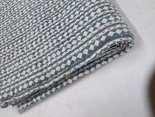 Kantha Quilt Bedcover Patchwork Indian 100% Cotton King Size Blanket Handmade