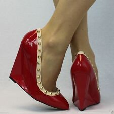 Wedge Patent Leather Party Shoes for Women