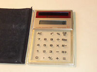 PANASONIC JE-380U solar cell card VINTAGE CALCULATRICE old CALCULATOR matsushita