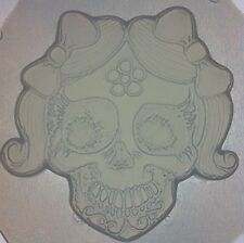 Flexible Resin Chocolate Candy Mold Girly Sugar Skull Day Of The Dead Mould