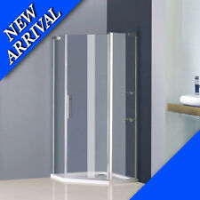 900x900mm frameless shower enclosure pentagon pivot door screen cubicle bathroom