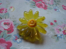 Vintage Yellow Lucite Flower Push Pin~Bulletin Board/Craft Room/Kitchen/Office