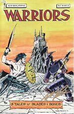 Warriors #1 Comic Book 1991 Mark Paniccia Signed - Acid Rain Studios