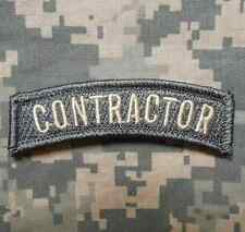 CONTRACTOR TAB ARMY MILITARY INFIDEL ACU LIGHT VELCRO® BRAND FASTENER PATCH