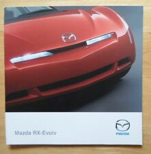 MAZDA RX Evolv rare Concept Car brochure prospekt - 2000 - RX-8 interest RX8