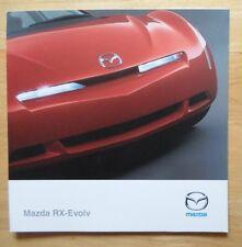 MAZDA RX Evolv rare Concept Car brochure prospekt - 2000 - RX-8 interest RX8