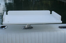 """Bait Table 14"""" x 24"""" made from solid 3/4"""" thick starboard plastic"""