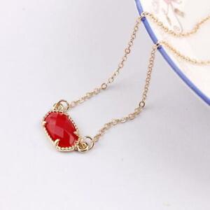 Gold Silver Fall Colors Resin Geometric Bib Choker Necklace Short Chain Jewelry