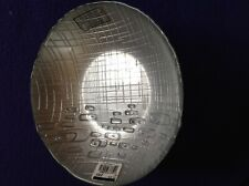 Glass Bowl Silver Made in Turkey New 7-inch Contemporary Design Exterior Texture