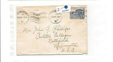 1937 South Africa cover repeating cancel to Northfield MN