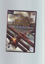 WINGS OF HONOUR : BATTLES OF THE RED BARON - AIR COMBAT PC GAME - FAST POST VGC