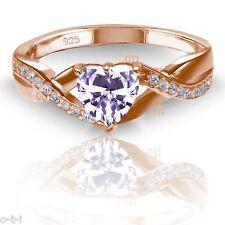 18k Rose Gold Plated Lavender Alexandrite Heart Infinity Celtic Ring