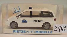 Rietze 1/87 50754 VW Volkswagen Sharan Bus Polizei Kanton Basel Schweiz OVP#2442