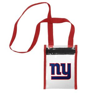 """New York Giants CLEAR Crossbody Tote Bag Purse Stadium Security Approved 8""""x 6"""""""