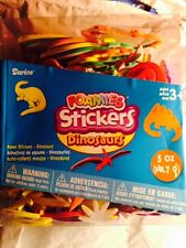 DARICE BUCKET OF Dinosaurs & Trees Foam Stickers FOAMIES 200 plus peel & stick