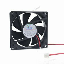 DC 12V 2Pin 80mm 80x80x25mm Brushless PC Computer Cooler Cooling Fan Lower noise