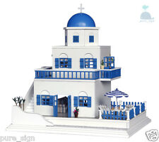 DIY Handcraft Miniature Project Dolls House My White Church Villa in Santorini