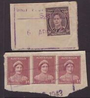 Australia WW11 unit postal station piece x 2