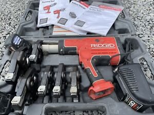 "Ridgid RP 330 B Pro Press Complete Kit, 6 jaws 1/2""-2"" 18v Li-Ion, Pressing Tool"
