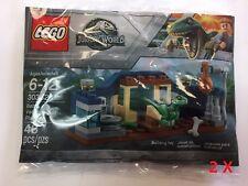 2 X LEGO 30382 Jurassic World Baby Velociraptor Playpen 48pcs New Free Shipping