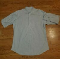 Ermenegildo Zegna Mens 16.5/42 TAN BROWN CREAM Casual Button Shirt