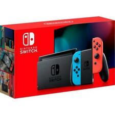 Nintendo Switch Con Neón Azul y Rojo Neón alegría con
