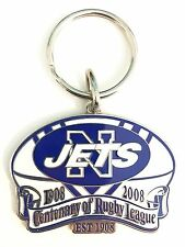 33478 NEWTOWN JETS NRL CENTENARY 1908-2008 METAL KEY RING KEYRING CHAIN