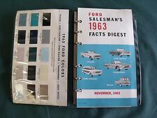 Near NOS 1963 Ford Salesman's Facts Digest Galaxie T-Bird Truck 427 Fairlane