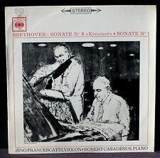 """Beethoven Stes VP 1 & 9 """"Kreutzer"""" Francescatti Casadesus S 72197 LP NM, CV EX"""