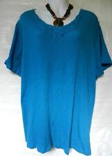 Cotton Blend V Neck No Plus Size Tops & Shirts for Women