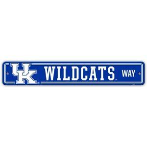 "KENTUCKY WILDCATS NCAA 4"" X 24"" PLASTIC STREET SIGN FREE SHIPPING"