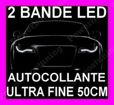 BANDE LED SMD SOUPLE BLANCHE PHARE FEUX JOUR DIURNE RUBAN LUMINEUX BLANC XENON