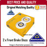 NBD1207  2 X FRONT BRAKE DISCS  FOR TOYOTA PRIUS