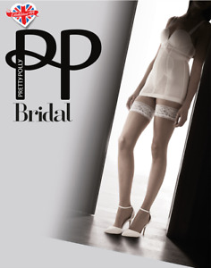 Pretty Polly Bridal Hold Ups  Nude