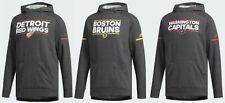 New adidas NHL Squad Pullover Hoodie Dark Grey Heather MSRP $100