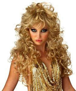 Seduction Blonde Long Curly Fashion Women Costume Wig