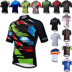 Men Cycling Jersey Bicycle Short Sleeve Clothes Bike Jacket 3 Pockets Shirt Tops