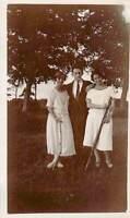 1920s Irish Women Man Holding Rifle Stick Smoking Cheeky Trees  Ireland Photo