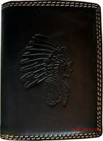 Hochwertige Geldbörse Geldbeutel Portemonnaie Büffel Leder Indianer Wild Börse