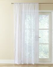 VOILE CURTAINS MADISON WHITE VOILE EMBROIDERED PATTERN 59 X 54