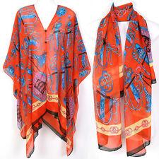 Tunic Kaftan Scarf Blouse Dress Wing Beach Cover Up Swimwear Robe ts26o