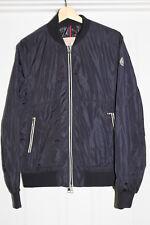 Moncler Navy Blue Nylon Light Weight Down Jacket Mens Coat sz 3 / L