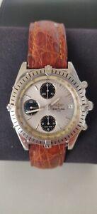 BREITLING A13047 Panda Men's Automatic Chronograph Watch Chronomat