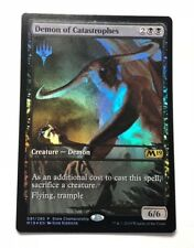 Mtg foil ext art Demon of Catastrophes M19 Promo NM