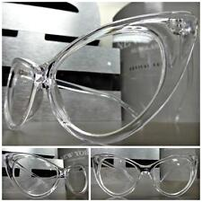 Vintage Retro 60s Cat Eye Style Clear Lens Eye Glasses Transparent Crystal Frame