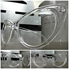Womens VINTAGE 60's RETRO CAT EYE Style Clear Lens EYE GLASSES Transparent Frame