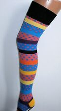 OVER THE KNEE THIGH HIGH EXTRA LONG SOCKS OVERKNEE RAINBOW STRIPES & SPOTS
